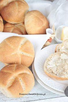 domowe bułki grahamki na maślance | Domowy Smak Jedzenia .pl Hamburger, Bread, Food, Brot, Essen, Baking, Burgers, Meals, Breads