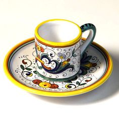 Deruta cup and saucer