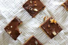 Trilevel Brownies (Shortbread   Brownies   Chocolate Ganache) [Vegan]