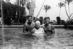 Joe Kenney Jr., Rose Kennedy and JFK in Palm Beach, circa 1942. Courtesy of Rose Kennedy Family Album.