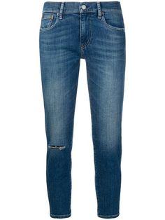 Shop Polo Ralph Lauren cropped jeans Ralph Lauren Store, Polo Ralph Lauren, Skinny Fit, Skinny Jeans, Ralph Lauren Womens Clothing, Cropped Jeans, Baby Design, Blue Denim, Women Wear