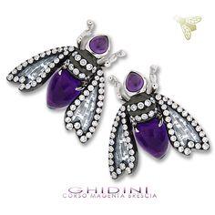 Bzzzzzzz.  #stylish #accessory #stone #accessories #ootd #fashion #diamond #jewelrytrends #jewelrygram #cute #love #jewel #beautiful #gemstone #instajewelry #jewelry #jewels #luxury #earrings #thebest #tradition #glamour #italy #followme #picoftheday #girl #zircon #carbon #violet #bee