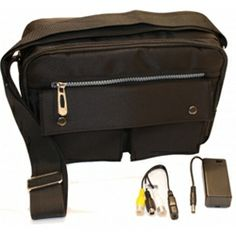 This portable hidden camera is designed to look like a handbag, making it easy to transport and capture covert video anywhere. Pen Camera, Camera Bags, Spy Shop, Body Worn Camera, Covert Cameras, Spy Gear, Nanny Cam, Personal Security