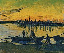 "Vincent van Gogh ○ ""Los descargadores en Arlés"". -  (1888)  - Museo Thyssen-Bornemisza. - (Wikipedia, la enciclopedia libre)"