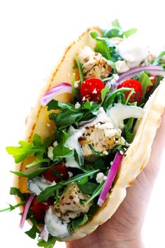 """This Chicken Souvlaki recipe is super-easy tocook in the oven or on the grill, and absolutely delicious when loaded up with all of your favorite toppings! Over the past few months, I've had a few items mysteriously """"disappear"""" after unloading themon the dining room table after a trip to the store. A bag of frozen …"""