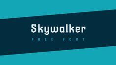 Skywalker free font on Behance