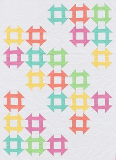 Martingale - Block-Buster Quilts - I Love Churn Dashes (Print version + eBook bu Cute Quilts, Scrappy Quilts, Baby Quilts, Antique Quilts, Vintage Quilts, Quilting Projects, Quilting Designs, Churn Dash Quilt, Layer Cake Quilts