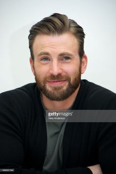 Chris Evans at the 'Avengers: Age of Ultron' Press Conference at Walt Disney Studios on April 11, 2015 in Burbank, California.