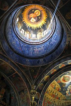 Stavropoleos Monastery after Easter, Bucharest - Romania Monuments, Milan Kundera, Bulgaria, Church Architecture, Renaissance Architecture, Little Paris, To Infinity And Beyond, Place Of Worship, Beautiful Buildings