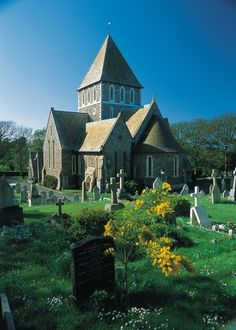 st anne's church, alderney, channel islands-so pretty Beautiful World, Beautiful Places, St Anne, Castle House, Channel Islands, Cathedral Church, Guernsey, Mosques, Place Of Worship
