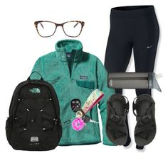 """""""School had me like """" by hmcdaniel01 ❤ liked on Polyvore featuring NIKE, Patagonia, Prism, The North Face, Chaco, Lilly Pulitzer, BaubleBar, Kate Spade and CamelBak"""