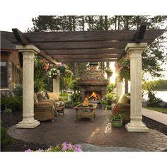 13 Outdoor Pergola Designs -Love this romantic patio