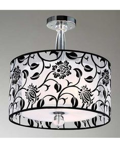 3-light Fabric and Acrylic Shade Ceiling Chandelier BCX-43DG