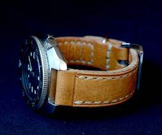 Make to order Yellow leather watch strap от VladislavKostetskyi