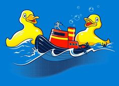"""Quack Attack"" - Threadless.com - Best t-shirts in the world"