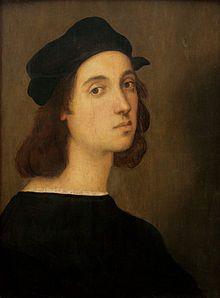 Self-portrait -Raphael at Uffizi Gallery