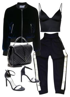 """""""Untitled #20920"""" by florencia95 ❤ liked on Polyvore featuring Chanel, T By Alexander Wang, Yves Saint Laurent and Stuart Weitzman"""