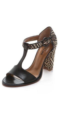 Studio Pollini Raffia High Heel Sandals | SHOPBOP