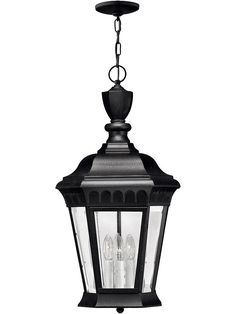 Buy the Hinkley Lighting Black Direct. Shop for the Hinkley Lighting Black 3 Light Outdoor Lantern Pendant from the Camelot Collection and save. Rustic Kitchen Lighting, Porch Lighting, Outdoor Lighting, Lighting Ideas, House Lighting, Lantern Lighting, Pendant Lighting, Outdoor Light Fixtures, Modern Light Fixtures