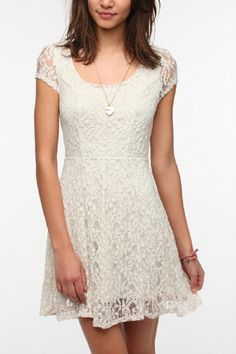 white lace dress urban outfitters
