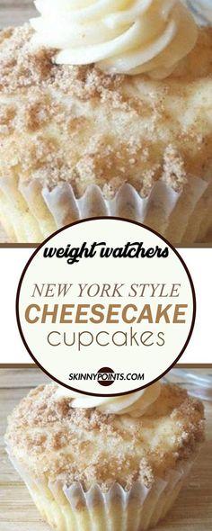 New York Style Cheesecake Cupcakes #weightwatchers #weight_watchers #cheesecake #cupcakes