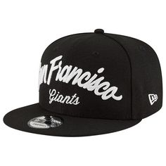 San Francisco Giants New Era City Stitcher 9FIFTY Adjustable Snapback Hat - Black - Fanatics.com