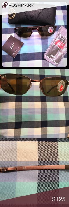 NWT Ray-Ban Flight Sunglasses Polarized Brown New in Box, husband bought but never wore, pristine condition, Ray-Ban brand men's polarized sunglasses, style is Flight, wraps the face like Predator style, color is brown /bronze metal frame & brown polarized lenses. Model is no longer in production. Flight style continues in their Icon Collection. Priced to sell. Includes: Ray-Ban sunglasses, Case, Cleaning Cloth and 2 Booklets Model: RB 3176  Style: Flight Lens Color:014/47 BROWN Temple/Frame…