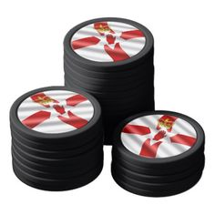 Northern Ireland flag Poker Chip Set - #customizable create your own personalize diy