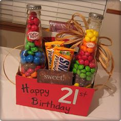 Fun 21st Birthday gift ... a six pack of Candy! ;-)