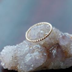 14k+Yellow+Gold+Twist+Ring+Stacking+Jewelry+by+ShopClementine,+$99.00