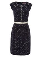 Look what I found at House of Fraser Navy Houses, House Of Fraser, Retro Dress, Collar Dress, Two Piece Skirt Set, Skirts, Dresses, Fashion, Gowns
