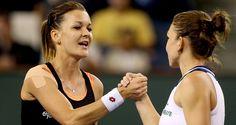 Sportvantgarde's blog.: Tennis:Agnieszka Radwanska to face Flavia Pennetta...