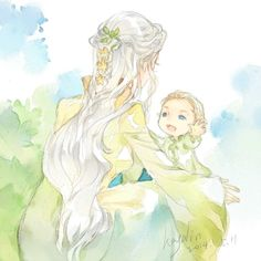 Legolas and his Mommy - so cute! I wish we knew something about Legolas' Mom! But I guess that leaves it up to the fans to be creative.