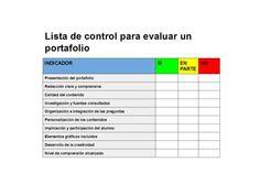 Lista de control para evaluar un portafolio