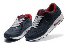 21b6efb8f54 Nike Air Max 90 Net Cloth Men Deep Blue Red  WOW Air Max 90