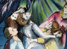 Detail, Children  from Watercolor on Paper by CSGibbs