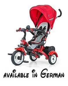 Milly Mally TOMY - Dreirad mit einem Drehsitz, rot. Der Sattel ist beweglich (360°) - Fahrt nach vorne und nach hinten. Der bequeme weiche und geformte Sattel. Schiebestange. Gefaltete Bude. Vorderer Rad ist versichert, um die Füße nicht zu überfahren #Toy #TOYS_AND_GAMES
