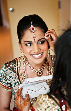 Expensive beautiful outfits, luxurious jewelry  elaborate henna tattoos. It's the traditional #Indian bride.