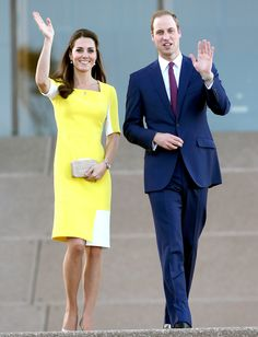 Kate Middleton, Prince William, and  Prince George arrive in Sydney, Australia on Wednesday April 16th, 2014