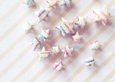 幸せを呼ぶと海外で大人気♡折り紙で作る『ラッキースター』のアイデアまとめ*