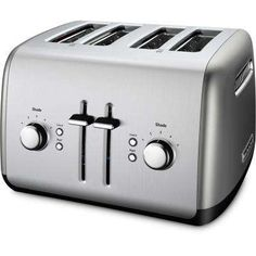 4-Slice Silver Toaster