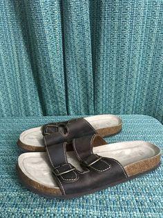 731787905d9b2 White Mountain Women s Helga 2 Strap   Size 10  Leather Sandal Brown   fashion