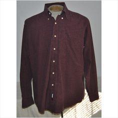 Men's Tommy Hilfiger Dress Shirt 100% Cotton Red Plaid Size 16 33-34 Long Sleeve