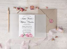 @4lovepolkadots has the most elegant water color styled invitations that you guests will love!