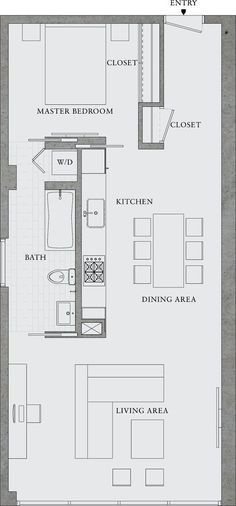 Excellent Image of Small Apartment Plans Layout . Small Apartment Plans Layout Great Simple Design Would Also Make A Great Rental Property 8 The Plan, How To Plan, Layouts Casa, House Layouts, Garage Apartments, Small Apartments, Small Spaces, Studio Apartments, Small House Plans
