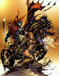 Spawn & Witchblade by Marc Silvestri