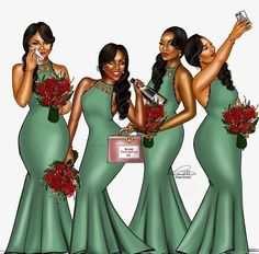 African Wedding Bliss: Peniel Enchill Shared This Illustration And Write Up On Bridesmaids. So Which Bridesmaid Are You? Black Love Art, Black Girl Art, Black Girls Rock, Black Is Beautiful, Black Girl Magic, Art Girl, Black Queen, Black Art Pictures, Black Artwork