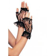 Gloves Fingerless Wrist Lace Ruffle Victorian Steampunk Halloween Costume Goth #LegAvenue #Fingerless