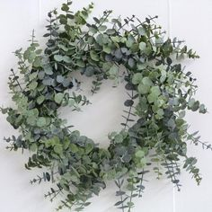 Christmas Wreath 60cm - Spiral Eucalyptus Wreath - £20.99 - - Wholesale Florist & Floristry Supplies