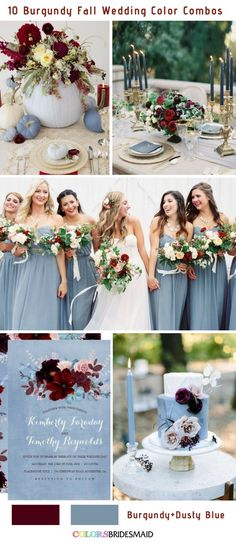 Fall wedding colors burgundy and dusty blue fall wedding corsage / fall wedding boutineers / fall wedding burgundy / wedding fall / wedding colors Burgundy Wedding Colors, Summer Wedding Colors, Fall Wedding Flowers, November Wedding Colors, Wedding Color Schemes Fall Rustic, Fall Wedding Themes, Burgundy Color, Popular Wedding Colors, Fall Flowers